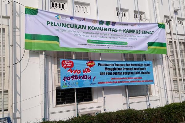 Peluncuran Komunitas dan Kampus Sehat