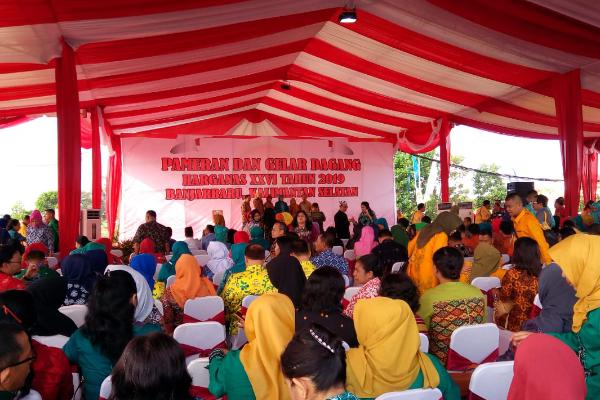 Pembukaan Pameran dan Gelar Dagang dalam Harganas XVII di Banjarbaru, Kalsel