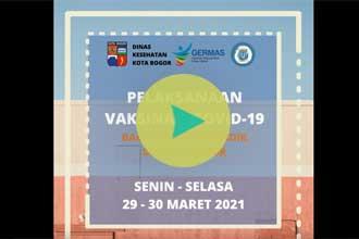 Vaksinasi Covid-19 bagi Tenaga Pendidik di Kota Bogor, 29-30 Maret 2021