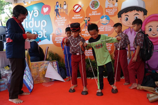 Murid Pesantren Cipasung di Tasikmalaya, Saat Acara Peringatan Hari TB Sedunia