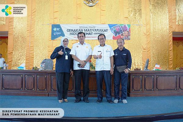 Sosialisasi GERMAS di Pasaman Barat, Sumatera Barat