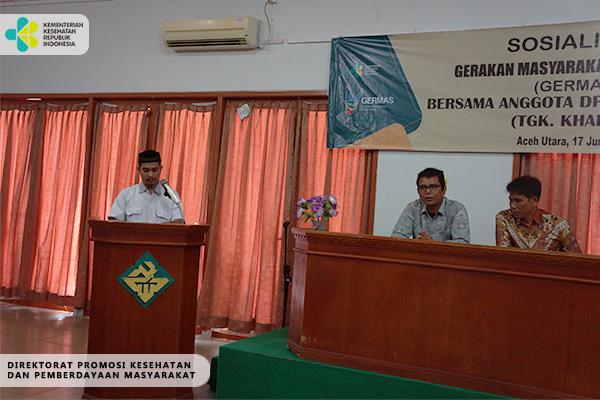 Sosialisasi GERMAS di Aceh Utara 2017
