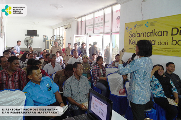 Sosialisasi GERMAS Tentang Bahaya Merkuri di Kalimantan Tengah