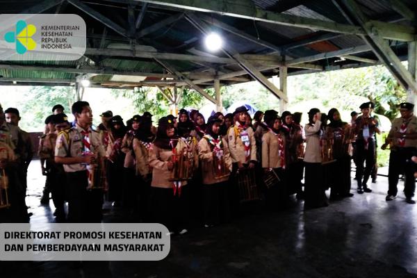 Latihan Bersama Saka Bakti Husada di Buper Mandala Kitri, Cibodas, Kab. Cianjur
