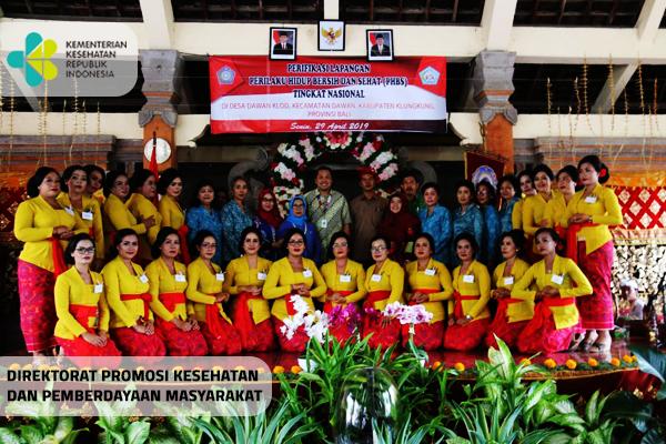 Verifikasi Lapangan Lomba PHBS Tingkat Nasional di Klungkung, Bali