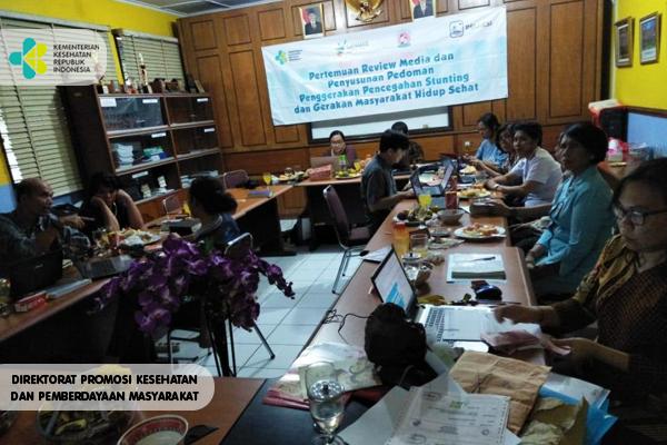 Pertemuan Pembahasan Media Penggerakan Pencegahan Stunting bersama Ormas Pelkesi