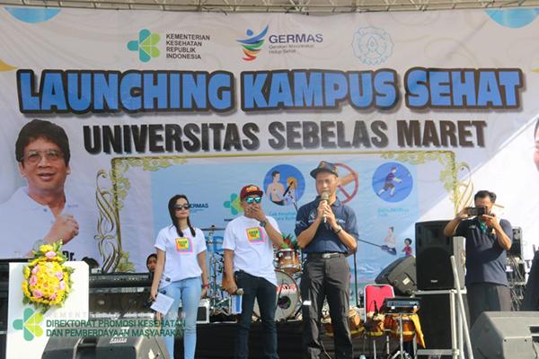 Launching Kampus Sehat di Universitas Sebelas Maret Solo