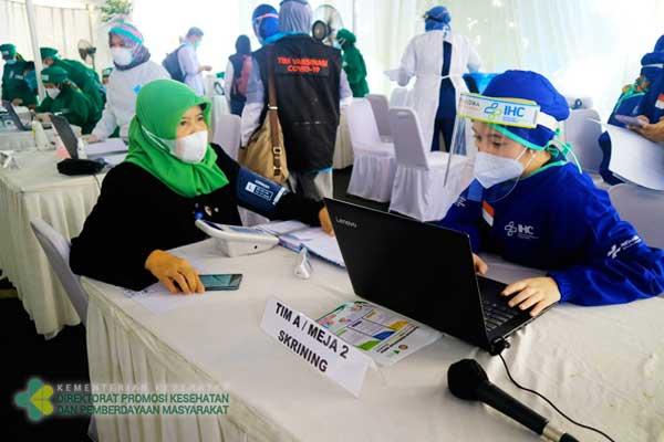 Kegiatan Vaksinasi Tahap 1 di Kantor Radio Republik Indonesia