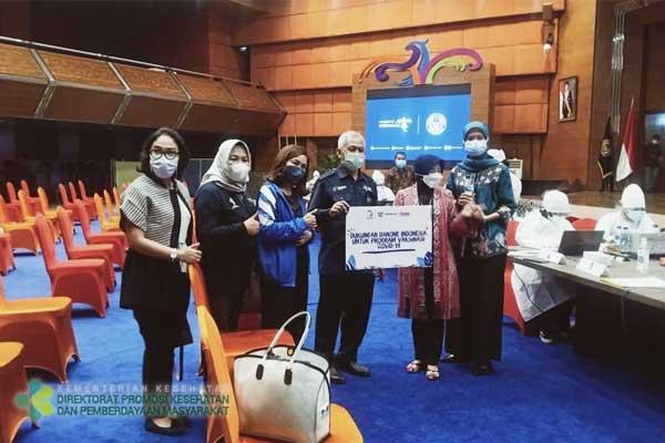 Pelaksanaan Vaksinasi di Kementerian Pariwisata dan Ekonomi Kreatif Hari Pertama