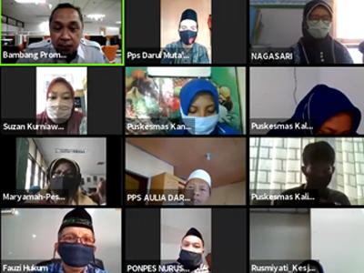 Pertemuan Virtual Upaya Pencegahan dan Pengendalian Coronavirus Disease 2019 (COVID-19) di Pesantren