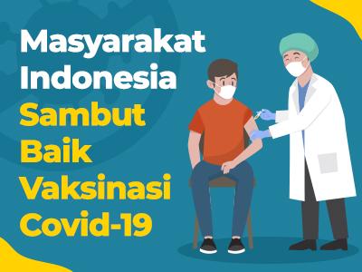 Masyarakat Indonesia Sambut Baik Vaksinasi Covid-19