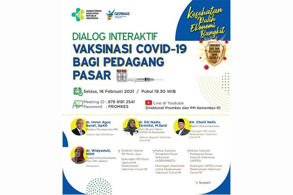 Dialog Interaktif Vaksinasi Covid-19 Bagi Pedagang Pasar