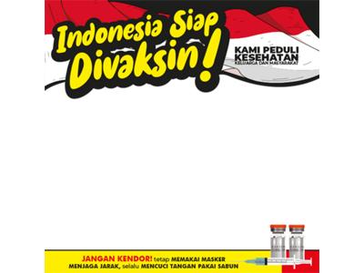 Twibbon Aku Indonesia Siap Divaksin