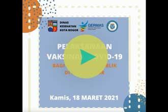 Vaksinasi Covid-19 bagi Pelayan Publik di Kota Bogor, 18 Maret 2021