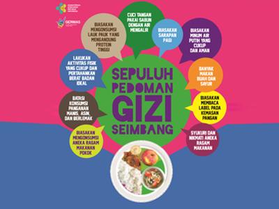 Flyer: Pedoman Gizi Seimbang 15x21cm