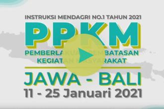 Video Pemberlakuan Pembatasan Kegiatan Masyarakat/PPKM di Jawa Bali