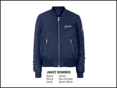 Jaket Bomber Biru Dongker 7