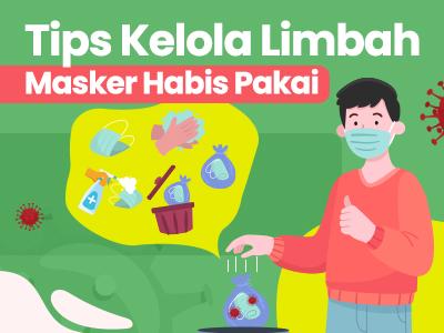 Tips Kelola Limbah Masker Habis Pakai