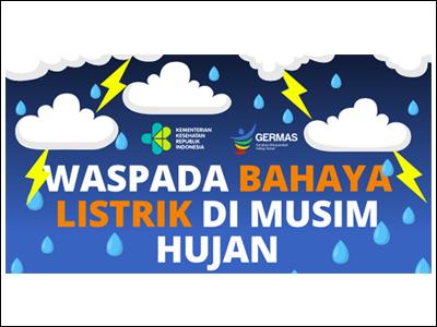Poster: Bahaya Listrik Saat Musim Hujan