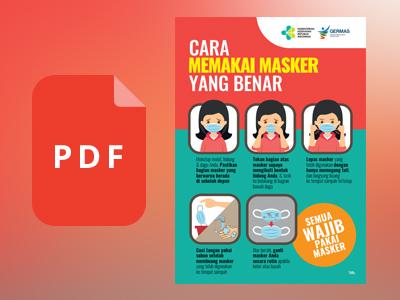 Flyer Cara Memakai Masker Yang Benar Format Pdf