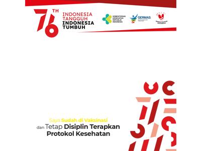 Twibbon Saya Sudah Divaksinasi - HUT RI 76