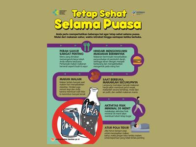 Flyer : Tetap Sehat Selama Puasa