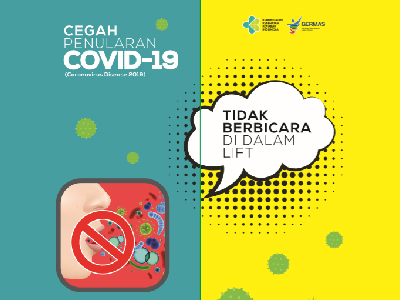 Poster Lift Covid 19 Gedung Sujudi