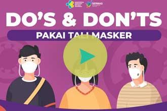 Do's and Don'ts Pakai Tali Masker