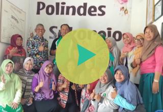 Kunjungan Tim Promkes ke Polindes Desa Sukorejo, Kab. Sidoarjo, Jawa Timur