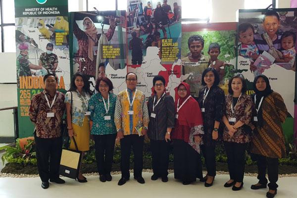 Kunjungan Menteri Kesehatan dan Dirjen Kesmas ke Pameran GHSA di Nusa Dua, Bali