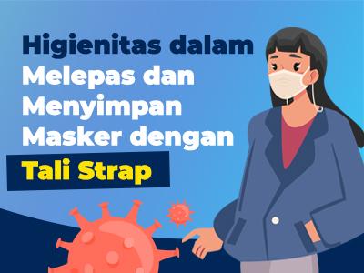 Higienitas dalam Melepas dan Menyimpan Masker dengan Tali Strap