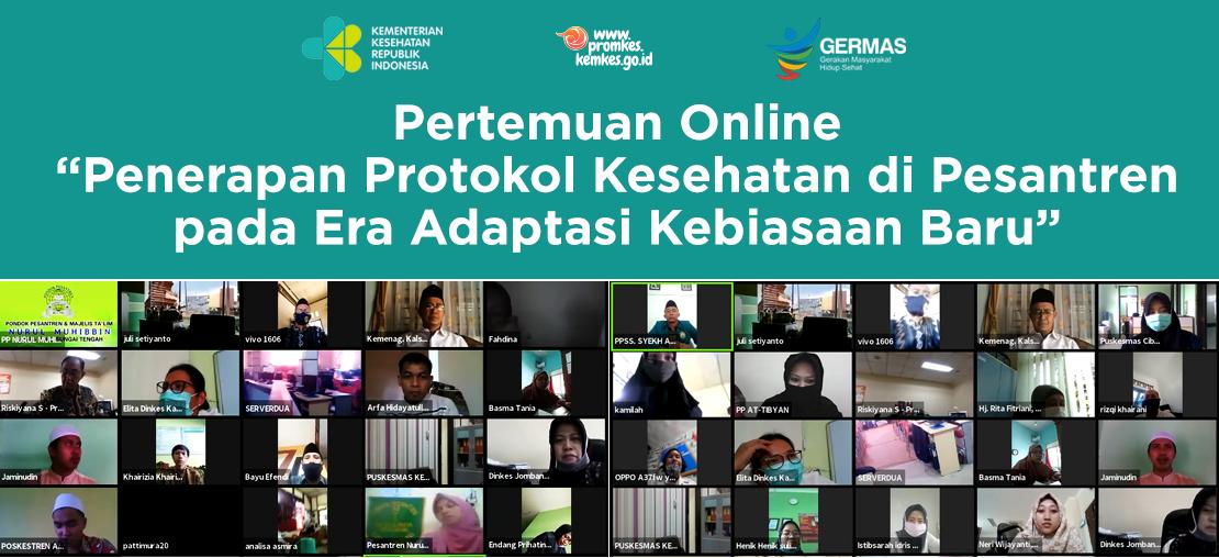 """Slide_Pertemuan Online """"Penerapan Protokol Kesehatan di Pesantren pada Era Adaptasi Kebiasaan Baru"""""""