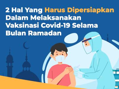 2 Hal Yang Harus Dipersiapkan dalam Vaksinasi Covid-19 Selama Bulan Ramadan