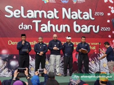 Doa Bersama Menkes dan Pegawai terhadap Bencana Banjir Jabotabek