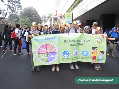 Kampanye Hidup Sehat Menyambut Hari Gizi Nasional