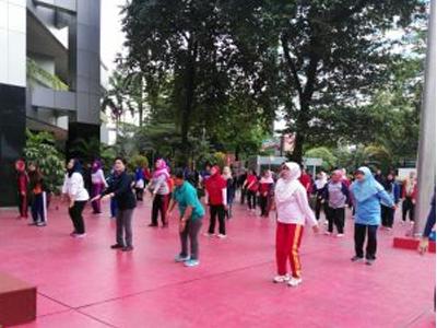 Senam Bersama Dan Ramah Tamah Menkes Bersama Para Blogger